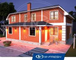 M-fresh Duplex-зеркальный. 200-300 кв. м., 2 этажа, 8 комнат, дерево