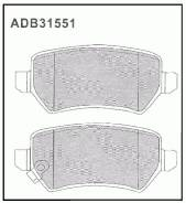 Колодки тормозные дисковые Allied Nippon ADB31551 Opel: 1605995 1605625 Kia CeeD (Jd). Kia Cee`D Sportswagon (Jd). Kia Pro Cee?D (Jd). Kia Venga