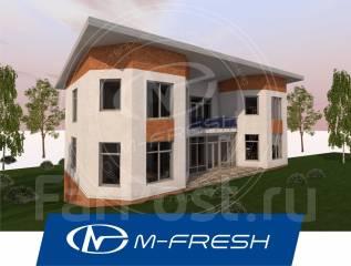 M-fresh Catamaran! -зеркальный (Проект дома с гаражом на 2 авто! ). более 500 кв. м., 2 этажа, 7 комнат, бетон