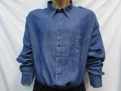 Рубашки джинсовые. 60, 62