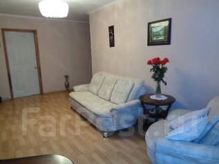 3-комнатная, улица Карбышева 12. БАМ, проверенное агентство, 61 кв.м. Интерьер
