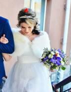 Шубка для невесты с красивой брошкой