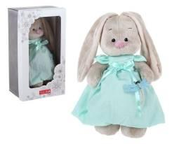Мягкая игрушка Зайка МИ в мятном платье со стрекозой