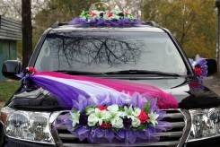 Свадебное украшение на машину. Прокат.