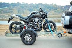 Прицеп для перевозки мотоцикла. Г/п: 400кг., масса: 160кг.