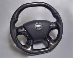 Руль Nissan Carbon Карбон разные модели + GTR Fairlady Skyline Silvia. Nissan: Fuga, Laurel, 350Z, Skyline GT-R, X-Trail, Fairlady Z, Silvia, Cima, Gl...