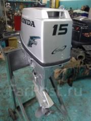 Honda. 15,00л.с., 4х тактный, бензин, нога S (381 мм), Год: 2006 год