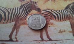 Французский Алжир. Нечастые 20 франков 1956 года. В сохране!