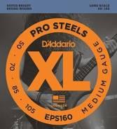 D'Addario EPS160 ProSteels Комплект струн для бас-гитары Medium 50-105