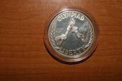 Серебряный доллар США 1988г.