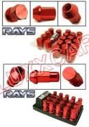Легкосплавные колесные гайки Rays с секреткой шаг1.5, 20шт. (Длинные). Honda Grace