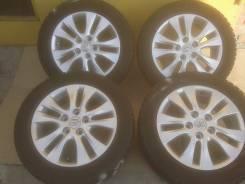 Оригинальные диски Toyota R16 + отличная зима 205/55R16 остаток 95%. 6.0x16 5x114.30 ET50 ЦО 60,1мм.