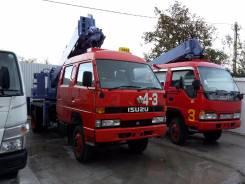 Isuzu. Автобуровая,4WD ямобур, бурильно крановая машина 4WDна шасси Исудзу, 4 300 куб. см., 3 000 кг.