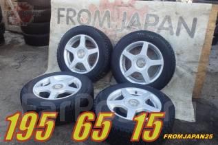 195/65R15 Японские колёса на литых дисках. Отправка по РФ. 6.5x15 5x100.00, 5x114.30 ET45 ЦО 73,0мм.