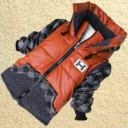 Куртки-пуховики. Рост: 110-116, 116-122, 122-128, 128-134 см. Под заказ