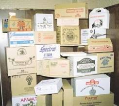Картонные ящики.