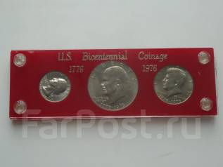 США 200 лет независимости набор из 3-х медно-никелевых монет.