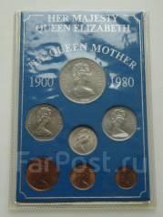 Великобритания годовой набор монет 1980 г. + крона. UNC.