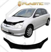 Дефлектор капота CA (мухобойка) Honda Civic хэтчбэк 2000-2005 EU1-EU4