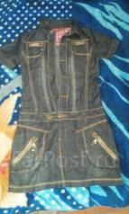 Сарафаны джинсовые. Рост: 140-146, 146-152 см