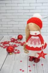 Интерьерная текстильная кукла Новогодняя. Под заказ