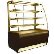 Кондитерская витрина ВХСв-1,3д Carboma (вентилируемая) Золото