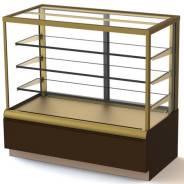 Кондитерская витрина ВХСв-1,3д Carboma Cube (вентилируемая) Золото