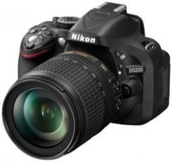 Nikon D5200 Kit. 20 и более Мп, зум: без зума