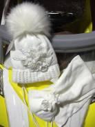 Шапка и шарф. Рост: 98-104, 104-110, 110-116, 116-122, 122-128 см