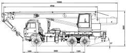 Галичанин КС-55713-1. Автокран КС-55713-1, 11 762 куб. см., 25 000 кг., 21 м.