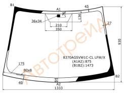 Стекло лобовое в клей без полосы TOYOTA YARIS VITZ 3D/5D HBK 2006- XYG 8370AGSVW1C-CL LFW/X