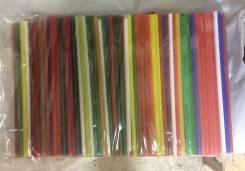 Трубочки для коктейля цветные 500 штук.