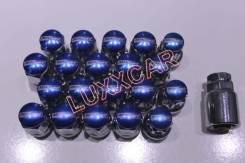 Стальные гайки с секреткой MAX Guard 12*1.5 20шт Синие. Daihatsu Max