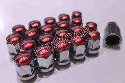 Стальные гайки с секреткой MAX Guard 12*1.5 20шт Красные. Daihatsu Max