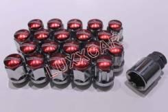 Стальные гайки с секреткой MAX Guard 12*1.25 20шт Красные. Chevrolet Niva