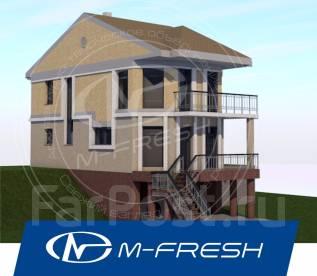 M-fresh Novella (Проект дома для узкого участка! Посмотрите! ). 100-200 кв. м., 2 этажа, 4 комнаты, бетон