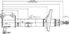 Стойка задняя TOYOTA CARINA/CALDINA/CORONA 92-02 4WD LH ST-48540-29275 SAT ST4854029275