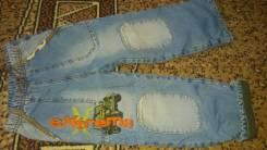Полукомбинезоны джинсовые. Рост: 104-110 см