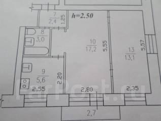 2-комнатная, улица Котовского 2. центральный, агентство, 44 кв.м.