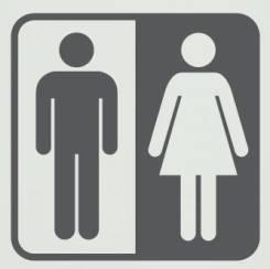 Табличка на туалет.