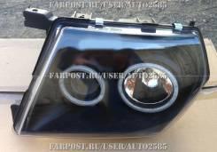 Оптика (Фары) Nissan Safari / Patrol Y61 С Ангельскими Глазками Черные