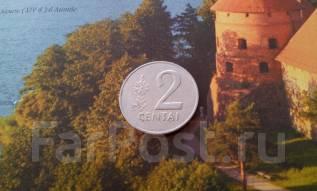 Литва. 2 цента 1991 года.
