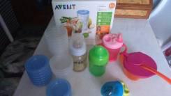 Набор пищевых контейнеров, поильников и тарелочки для Вашего малыша
