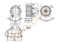 Мотор отопителя салона VOLKSWAGEN TRANSPORTER T5 03-/MULTIVAN 03-