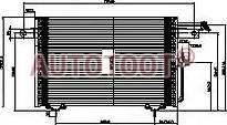 Радиатор кондиционера Ауди 100 1991-1994 год / 4A,C4 ST-AD01-394-0 SAT