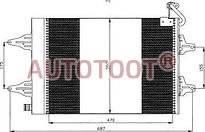 Радиатор кондиционера Фольксваген Поло 2005-2009 год / IV