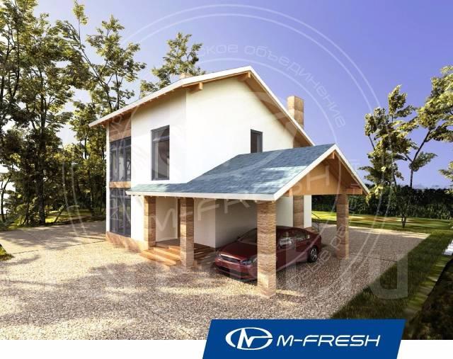 M-fresh Absolute (Проект дома с накрытой террасой! ). 100-200 кв. м., 2 этажа, 4 комнаты, комбинированный