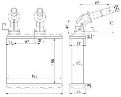Радиатор отопителя салона NISSAN CEFIRO/MAXIMA A32/33 94-02/BLUEBERD U13/AVENIR/EXPERT W11/LAUREL 34 SAT STDTW13950