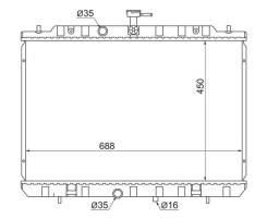Радиатор NISSAN X-TRAIL MR20DE/QR25DE 07-