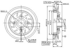 Шкив коленвала MITSUBISHI PAJERO 4D56 (один ручеек) 90- ST-MD160546 SAT STMD160546